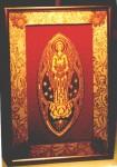 Saint Michel (cadre en tissus liturgique) 2000